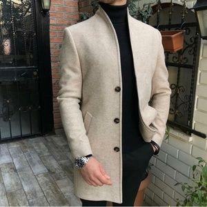 Jackets & Coats - Men' s Casual Thicken Warm Slim Wool Blends Coat